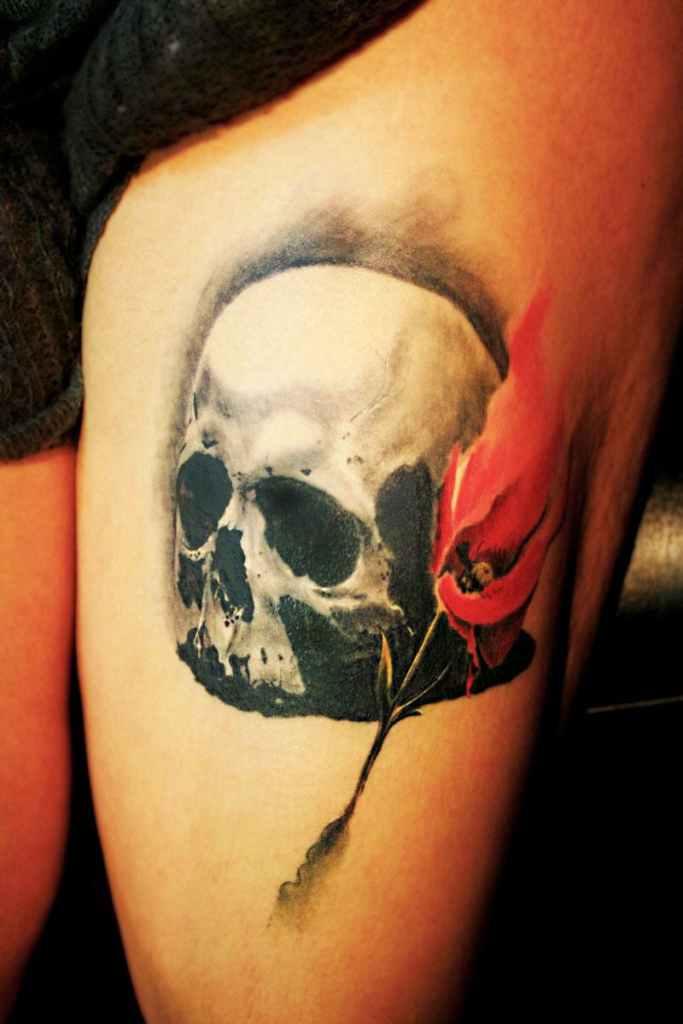 La mano zurda estudio de tatuaje en madrid for Calavera lobo
