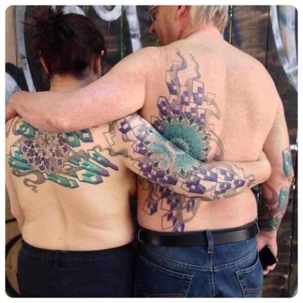 Los coloridos tatuajes de puntillismo de Maïka Zayagata 16