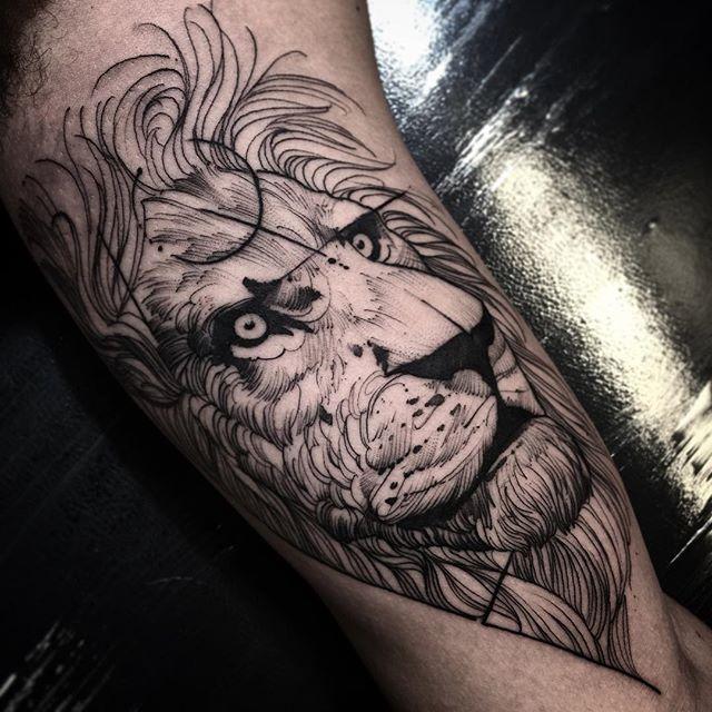 Tatuaje de Leon por Fredo Oliveira