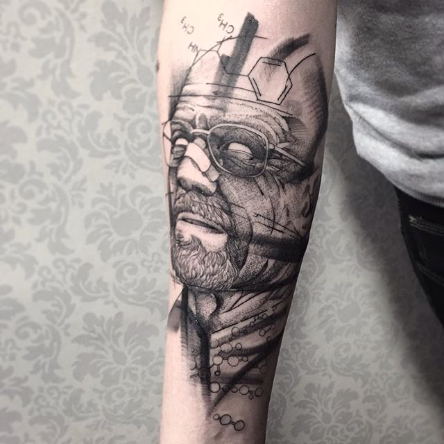 Tatuaje de Breaking bad por Fredao Oliveira