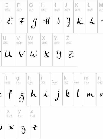 Nombre en Dafont: calligraphic06