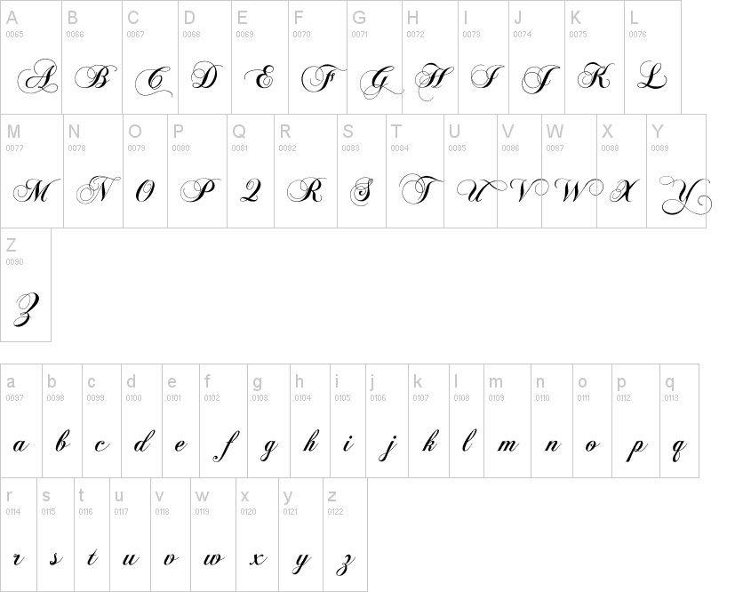Nombre en Dafont: chopin script14