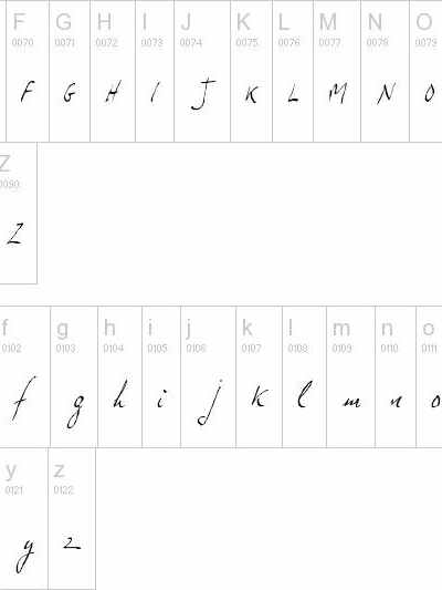 Nombre en Dafont jp hand slanted 32