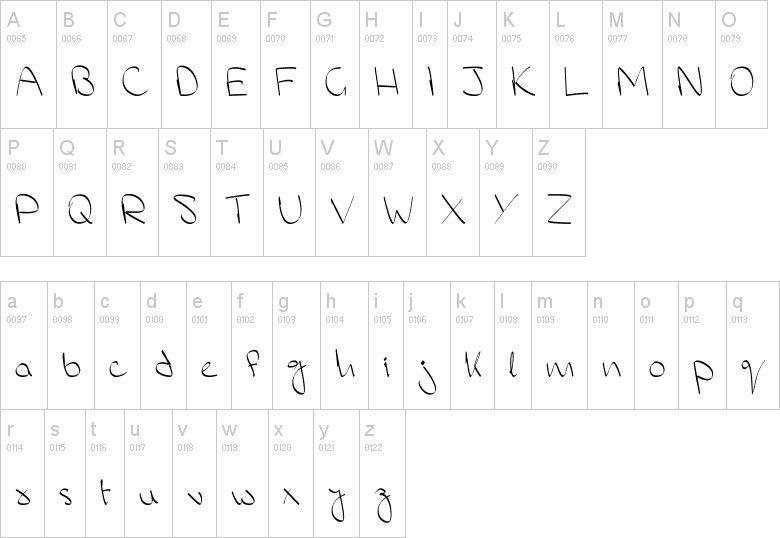 Nombre en Dafont ms hand 38