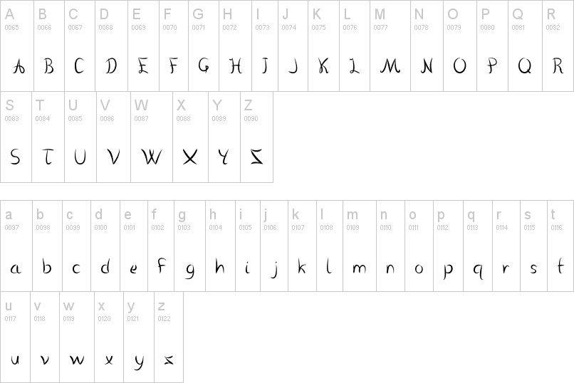 Nombre de Dafont vanlose handwritten 43