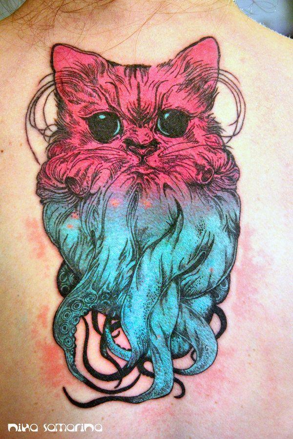 Medio gato medio pulpo por Nika Samarina
