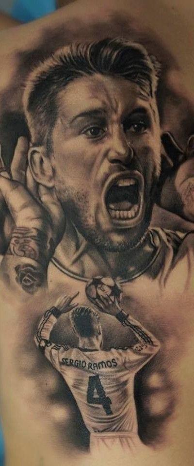 Retrato del futbolista Sergio Ramos