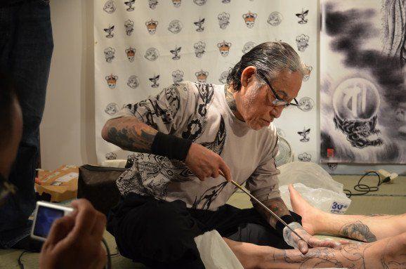 Tatuaje tradicional Japonés llamado Tebori