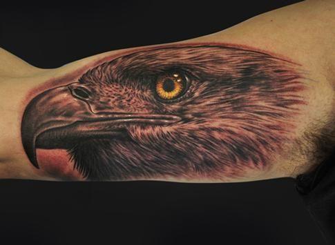 Como rey de las aves y depredador del cielo, el mensaje de las águilas es mente superior, inteligencia y liberación del espiritu!. Tatuaje por Mike Devries