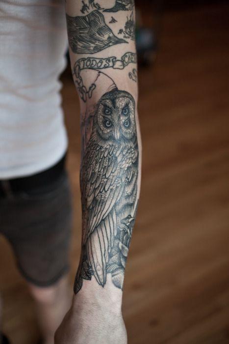 Tatuajes de buhos 9
