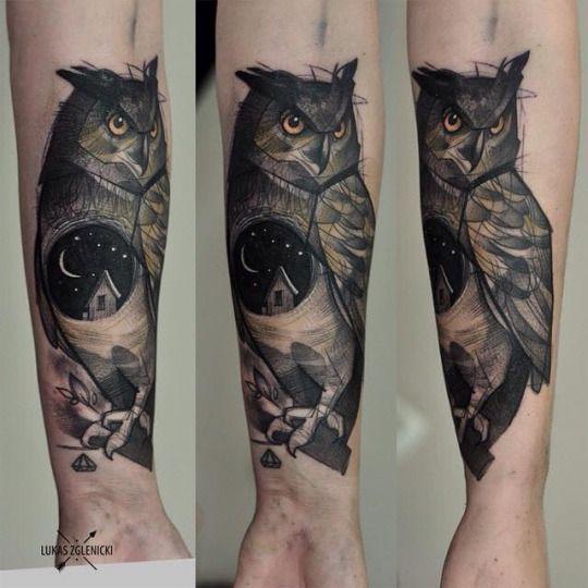 Tatuajes de buhos 51