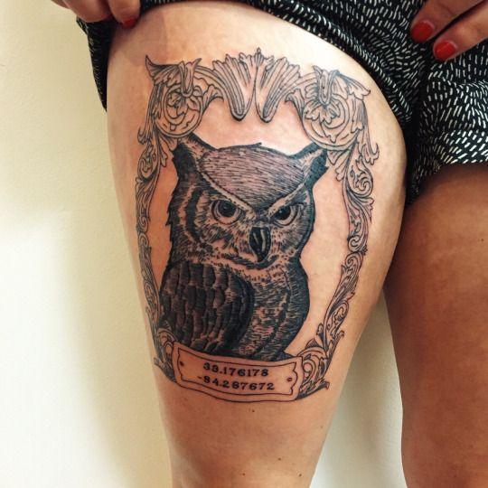 Tatuajes de buhos 24