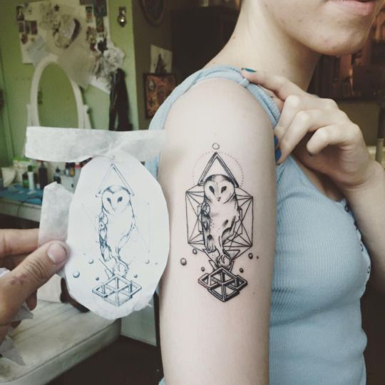 Tatuajes de buhos 84