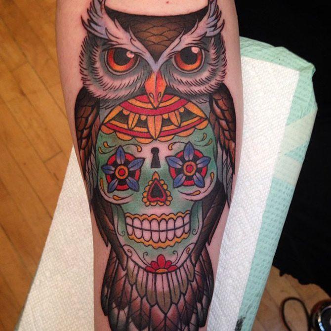 Tatuajes de buhos 12