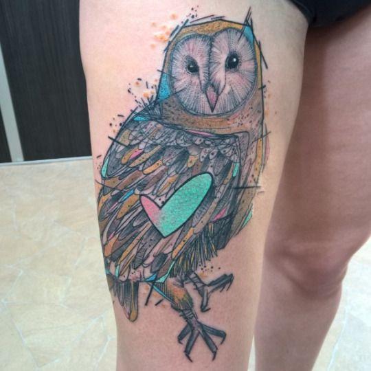 Original tatuaje de buho