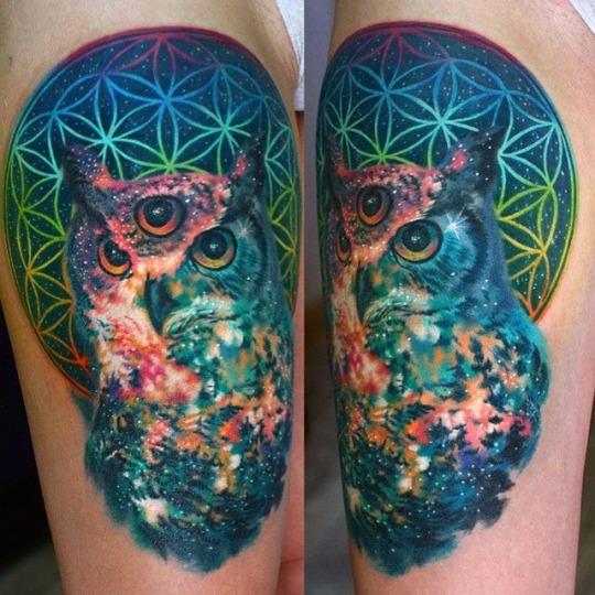 Tatuajes de buhos de tres ojos
