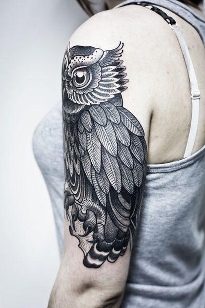 Tatuajes de buhos 83