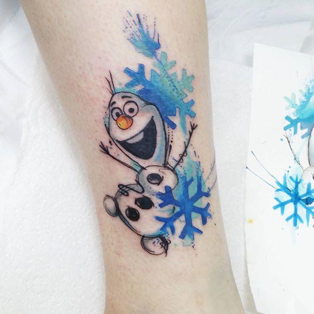 tatuaje en acuarela por Josie Sexton.