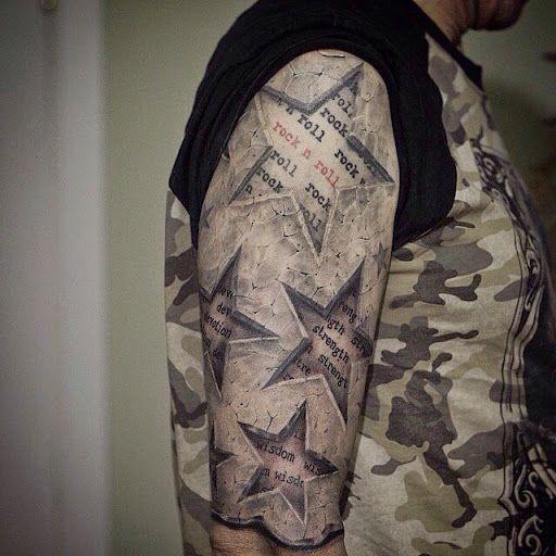 Tatuajes de estrellas 3d