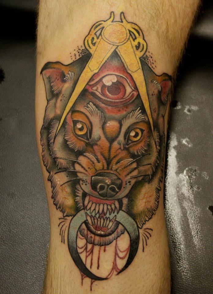 Otro lobo con tres ojos por Jeff Gogue