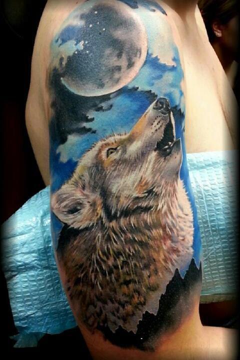 El aullido del lobo por artista desconocido