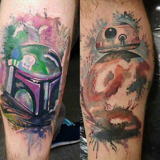BB-8 en acuarello por Paul Naylor