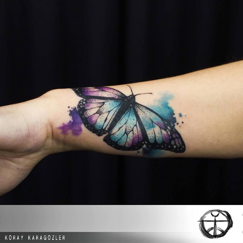 Tatuajes de acuarela llenos de energía por Koray Karagözler 3