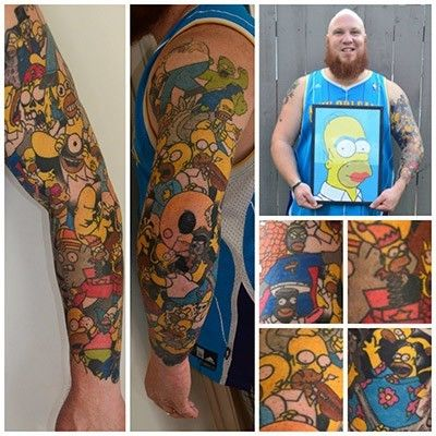 Lee Weir y su manga de homer simpson