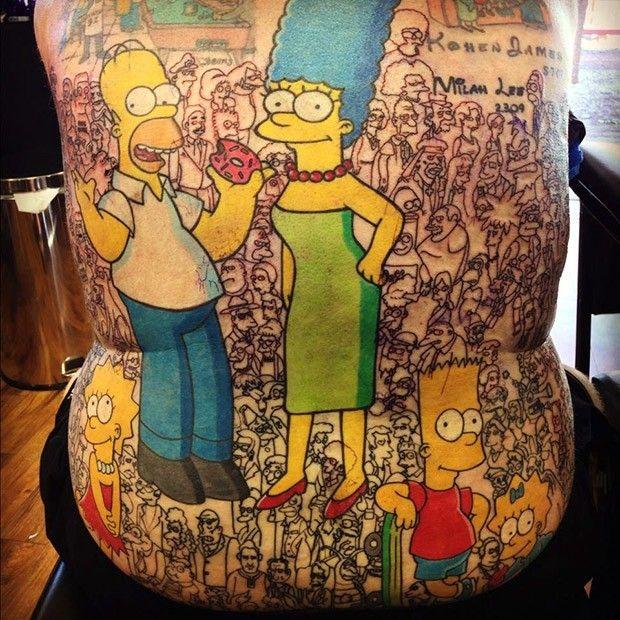 Tatuajes de los simpsons
