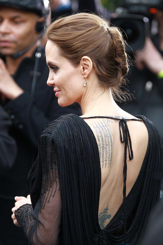 Tatuajes de famosos: espalda de Angelina Jolie