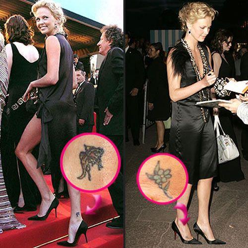Tatuaje de Charlize Theron
