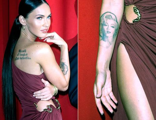 Tatujes de Megan Fox