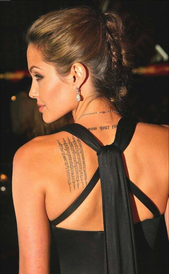 Nuevamente la espalda de Angelina Jolie