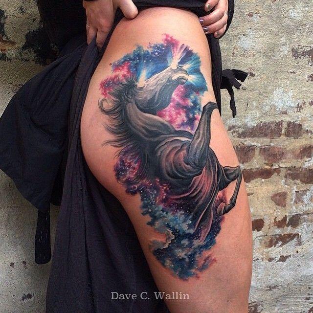 Caballo cosmico por Dave C. Wallin