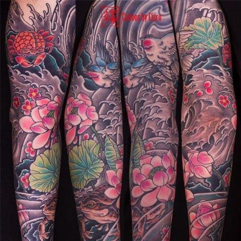 Tatuaje japones por Cisco Morales