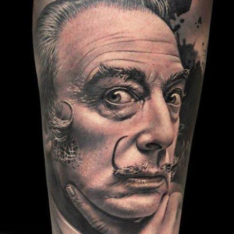 Tatuaje de retrato por Dani Martos