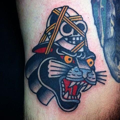 Tatuaje old school por El Bueno