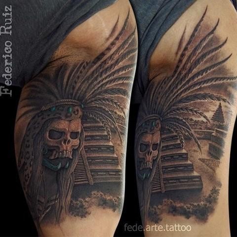Tatuaje Prehispánico por Federico Ruiz