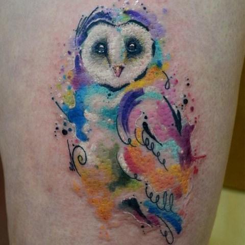 Tatuaje acuarela por Javi Wolf