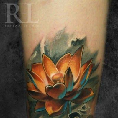 Flor De Loto Tatuaje Hombre