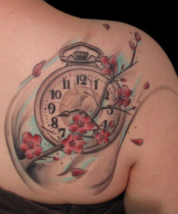 Tatuajes de relojes gran clasico de los tatuajes for Stop watch tattoos