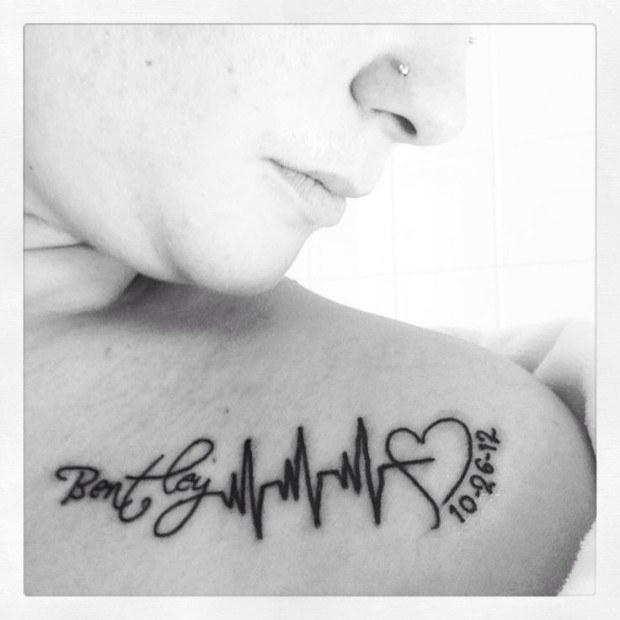 Latidos del corazón tatuados