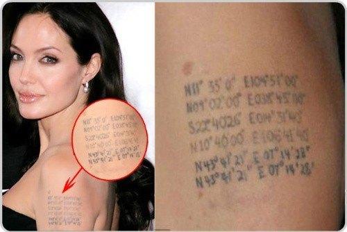 Coordenadas de nacimiento de los hijos de Angelina Jolie