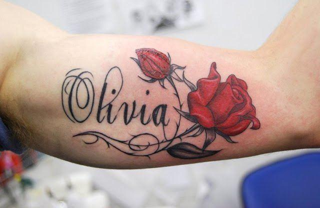 Tatuaje del nombre de Olivia