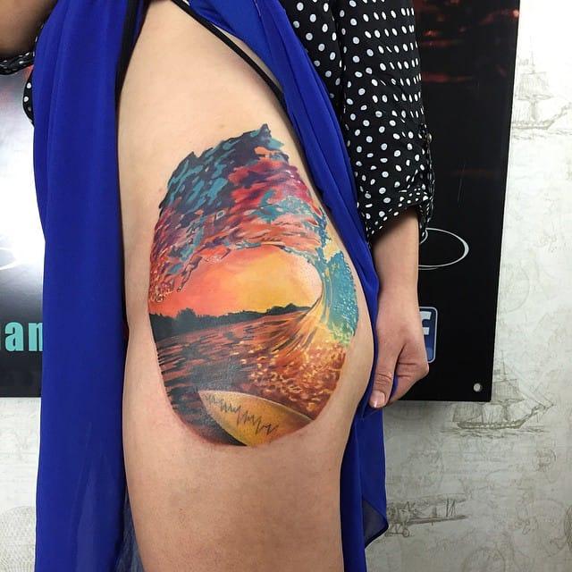Tatuajes de surf descubre nuestra selecci n de los - Dibujos para tablas de surf ...