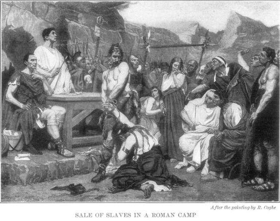 venta de esclavos en la epoca romana