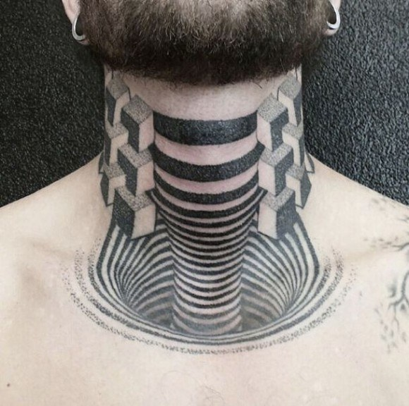Tatuajes con efectos: ilusiones ópticas sobre la piel 4