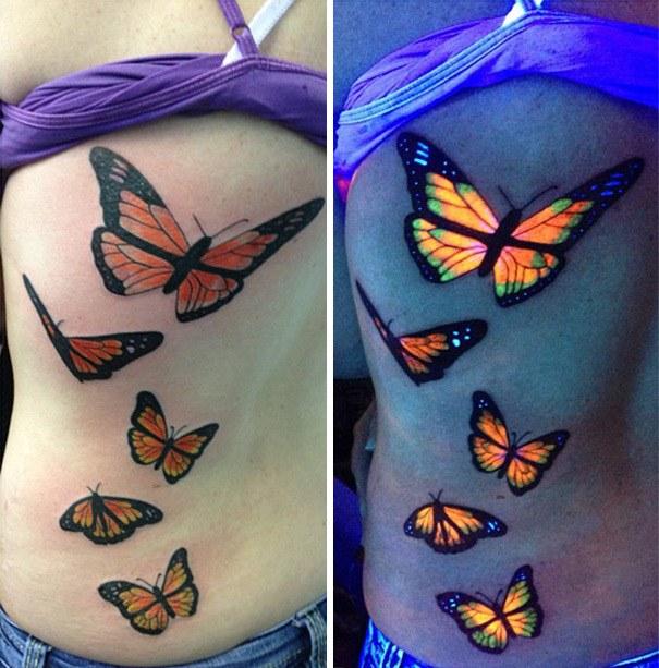 Tatuajes fluorescentes: tinta ultravioleta para no pasar desapercibido. 16