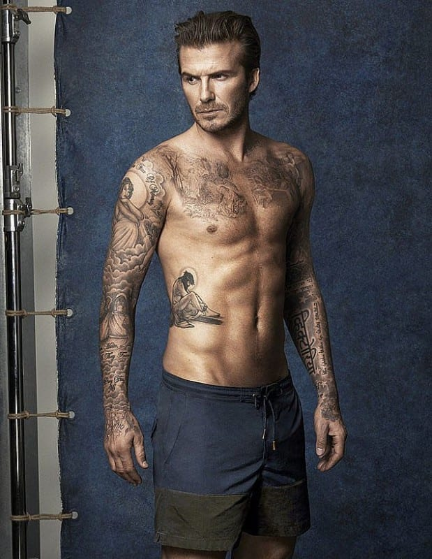tatuajes sexis para hombres. David Beckham