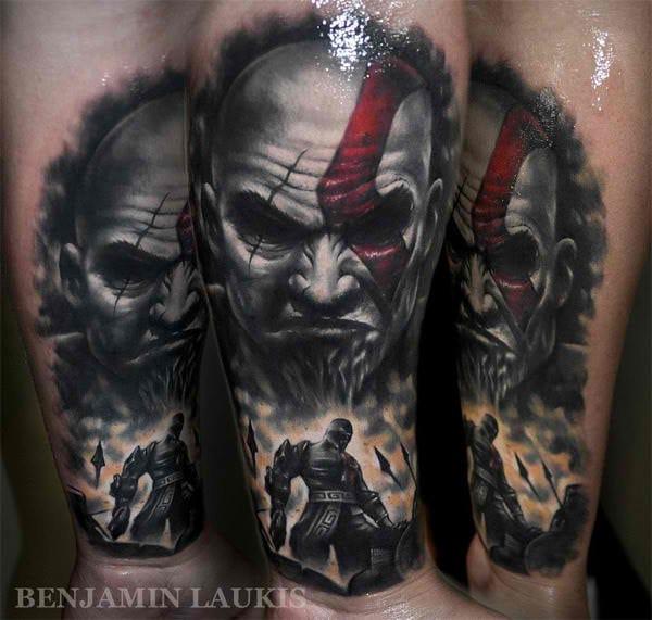 Tatuajes de videojuegos, como este de World of War de Benjamin Laukis.